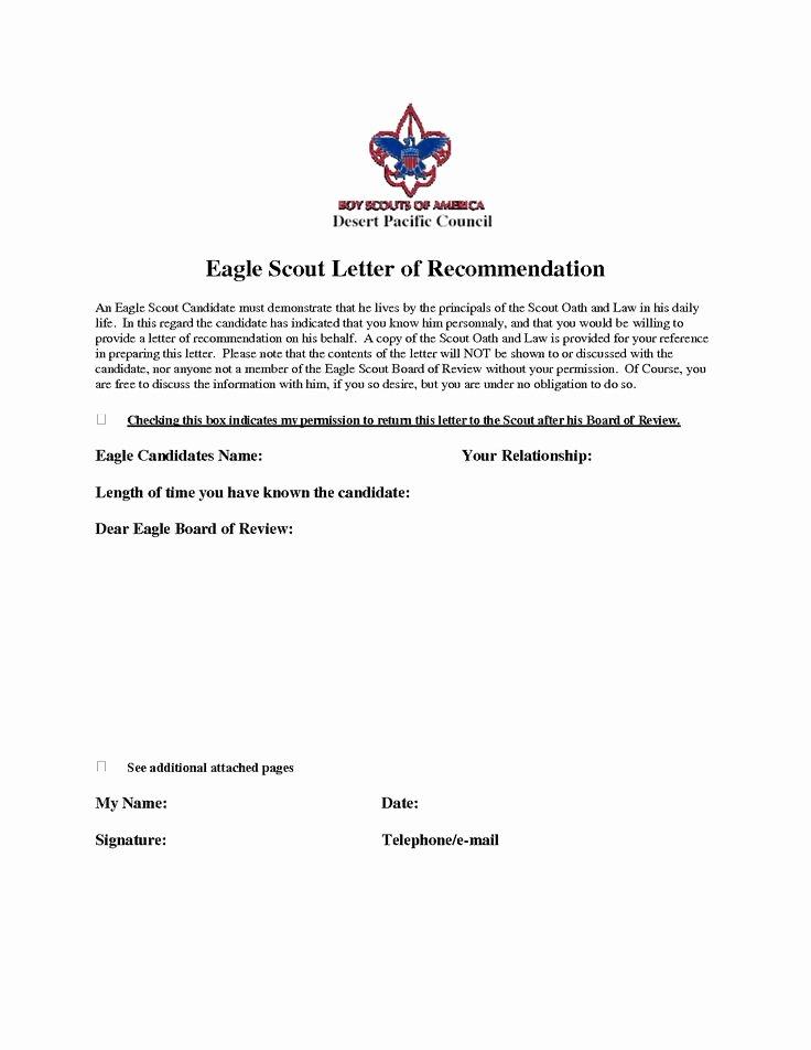 Eagle Scout Reference Letter Template Unique Eagle Scout Re Mendation Letter Sample