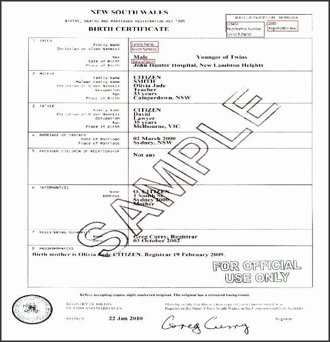 Editable Birth Certificate Template Beautiful 10 Editable Birth Certificate Template Sampletemplatess