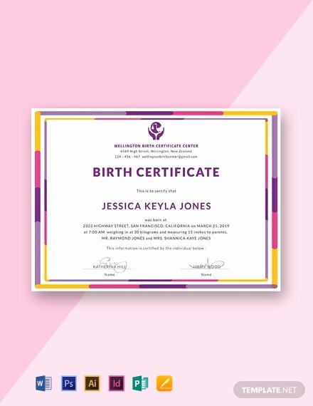 Editable Birth Certificate Template Unique 15 Free Birth Certificate Templates [download Ready Made