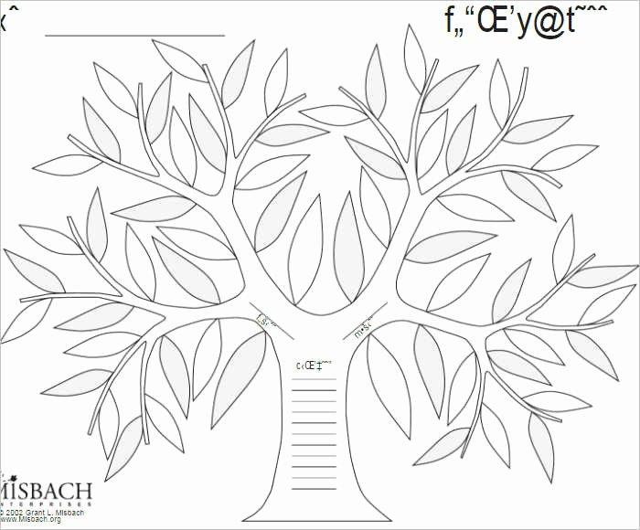 Editable Family Tree Template Word Beautiful Free Editable Family Tree Template Word