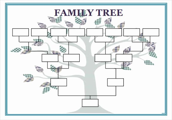 Editable Family Tree Template Word Elegant Blank Family Tree Template 32 Free Word Pdf Documents