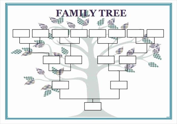Editable Family Tree Template Word Elegant Blank Family Tree Template 32 Free Word Pdf Documents
