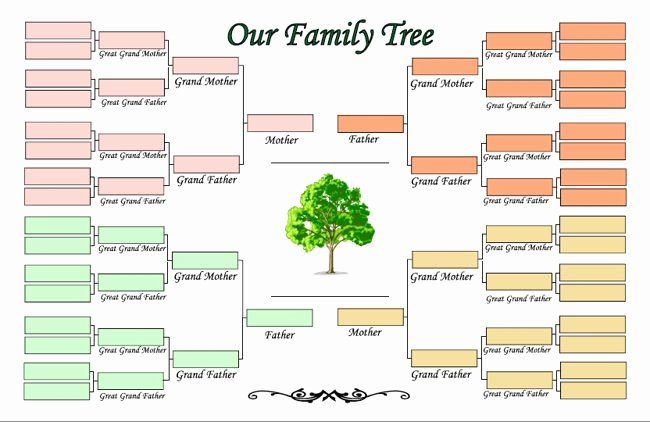 Editable Family Tree Template Word Fresh Family Tree Maker Templates