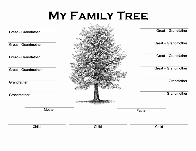 Editable Family Tree Template Word Lovely Family Tree Templates Word Word Excel Samples