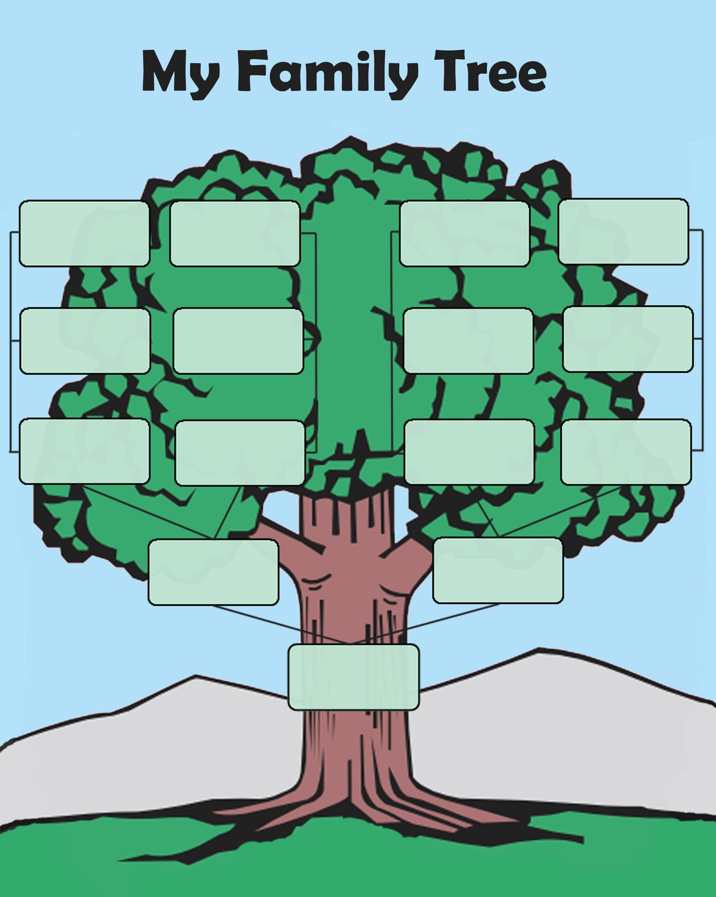 Editable Family Tree Template Word Luxury Free Editable Family Tree Template Daily Roabox
