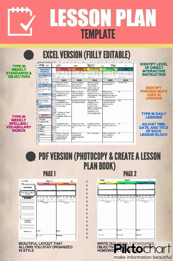 Editable Weekly Lesson Plan Template Awesome Editable Lesson Plan Templates organize Your Year In