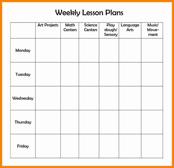 Editable Weekly Lesson Plan Template Beautiful 7 Editable Weekly Lesson Plan Template