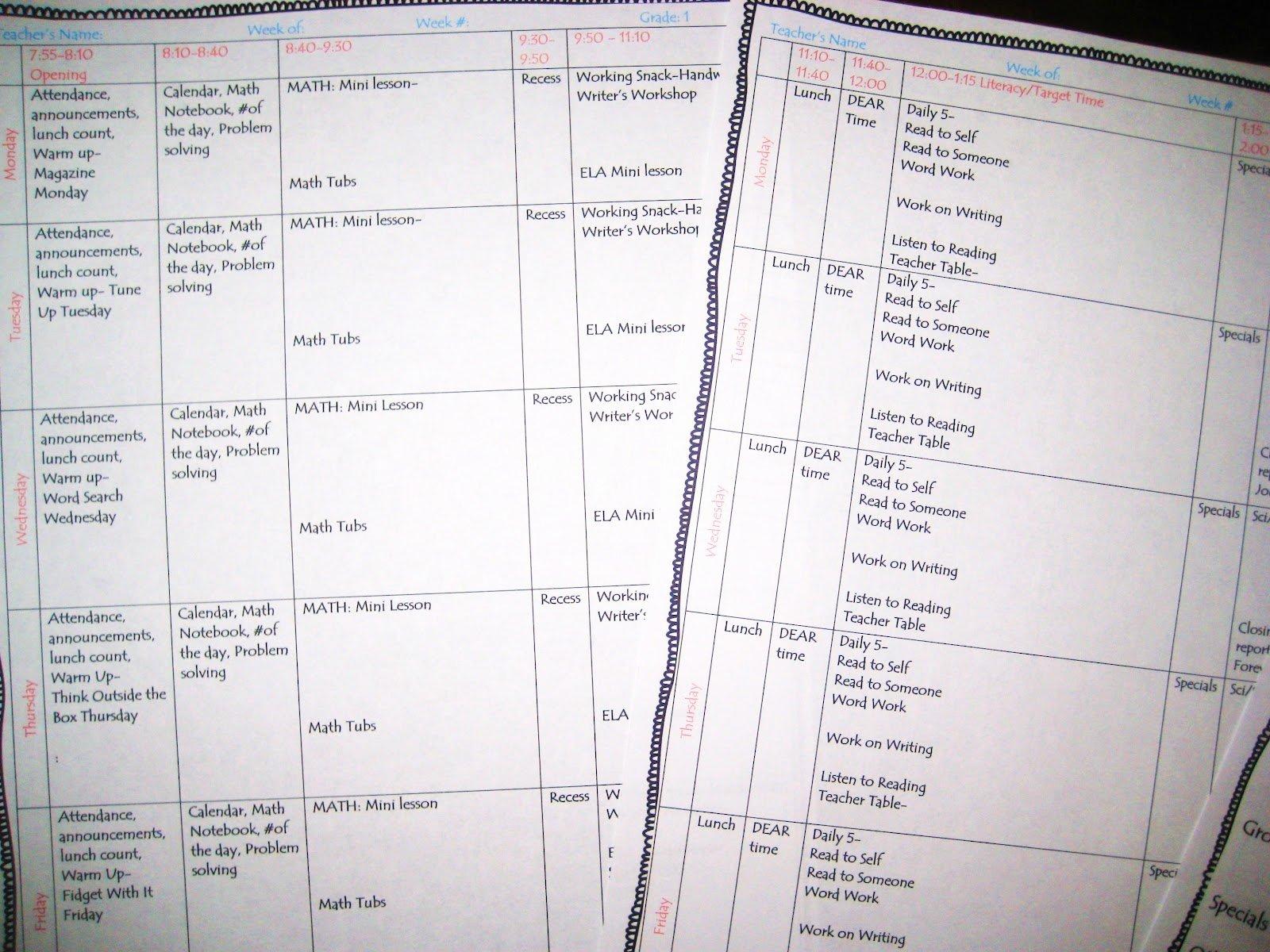 Editable Weekly Lesson Plan Template Elegant First Grade Wow Weekly Lesson Plan Template