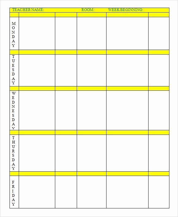Editable Weekly Lesson Plan Template Fresh Lesson Plan Template Free Editable – Editable Weekly