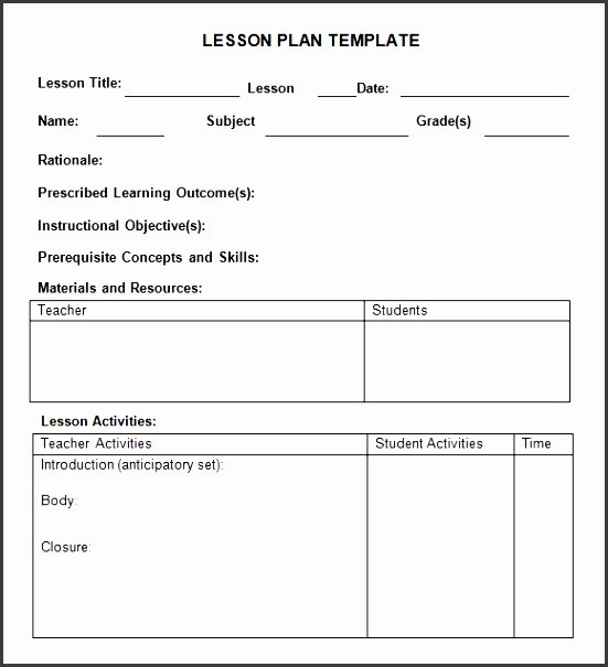 Editable Weekly Lesson Plan Template Inspirational 5 Daily Lesson Planner Template Editable