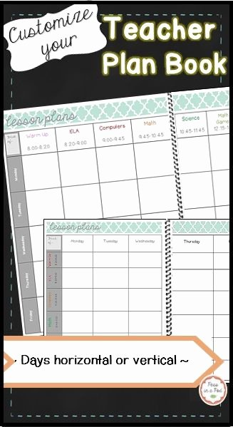 Editable Weekly Lesson Plan Template Inspirational Planbook Template Classroom Favorites