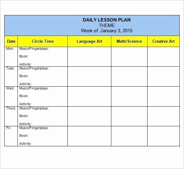 Editable Weekly Lesson Plan Template Lovely Weekly Lesson Plan Template Elementary Teachers – Detailed