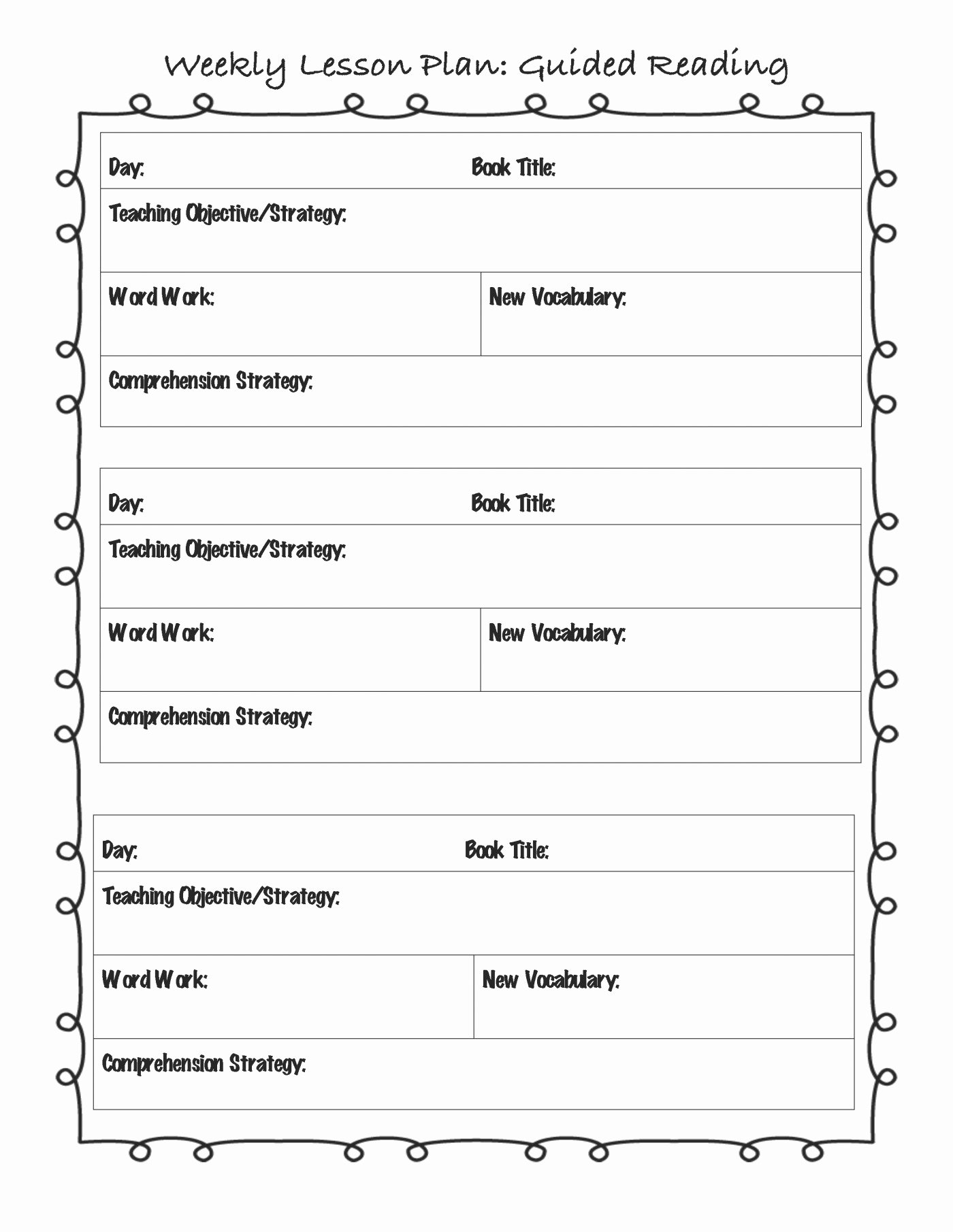 Editable Weekly Lesson Plan Template Unique Editable Lesson Plan Template Pdf – Weekly Lesson Plan