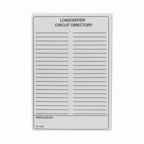 Electrical Panel Circuit Directory Template Inspirational Eaton Cutler Hammer Tcd Load Center Parts & Accessories