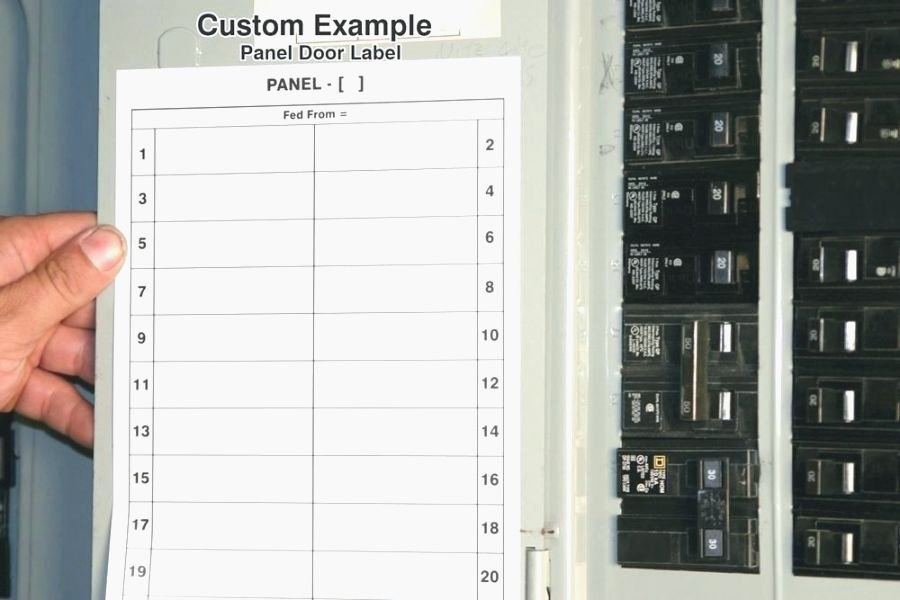 Electrical Panel Circuit Directory Template New top 41 Amazing Free Printable Circuit Breaker Panel Labels
