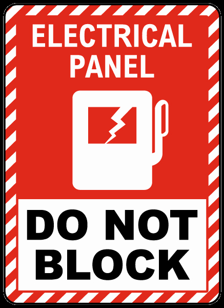 Electrical Panel Labels Template Awesome Electrical Panel Do Not Block Floor Label E3466