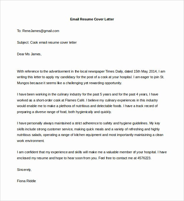 Email Cover Letter Templates Best Of 15 Best Sample Cover Letter for Experienced People Wisestep