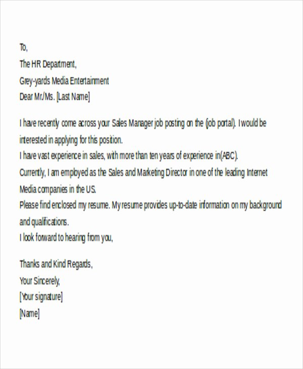 Email Cover Letter Templates Luxury 11 Email Cover Letter Templates Sample Example