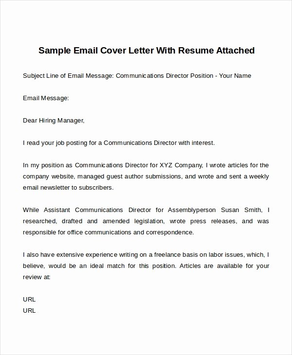 Email Cover Letter Templates New 14 Cover Letter Templates Free Sample Example format