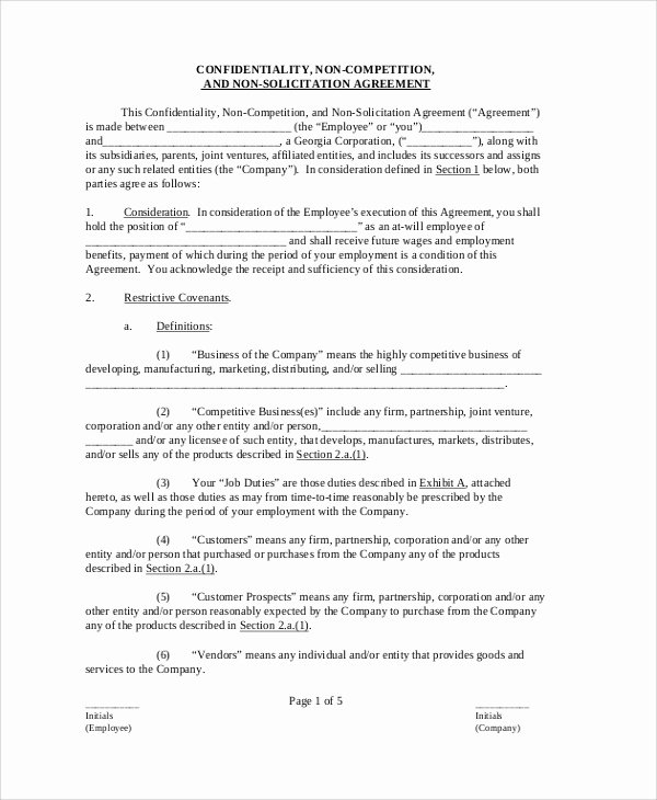 Employee Confidentiality Agreement Template Best Of Sample Confidentiality Agreement form 8 Documents In