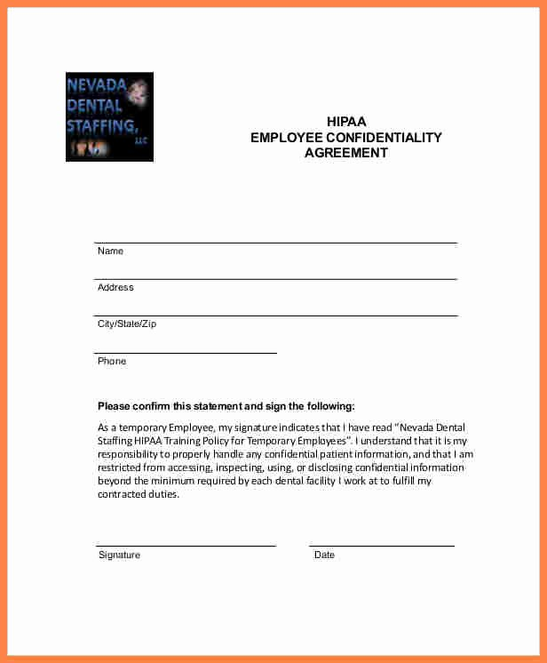 Employee Confidentiality Agreement Template Luxury 9 Employee Confidentiality Agreement Template
