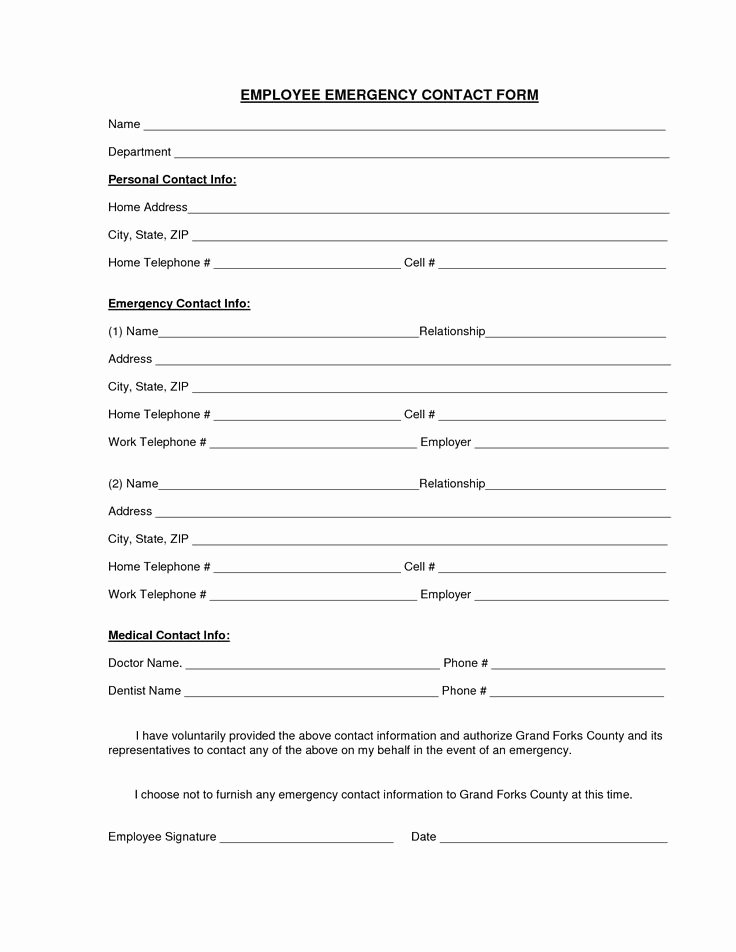 Employee Emergency Contact form Template Awesome Download A Free Emergency Contact form and Emergency Card