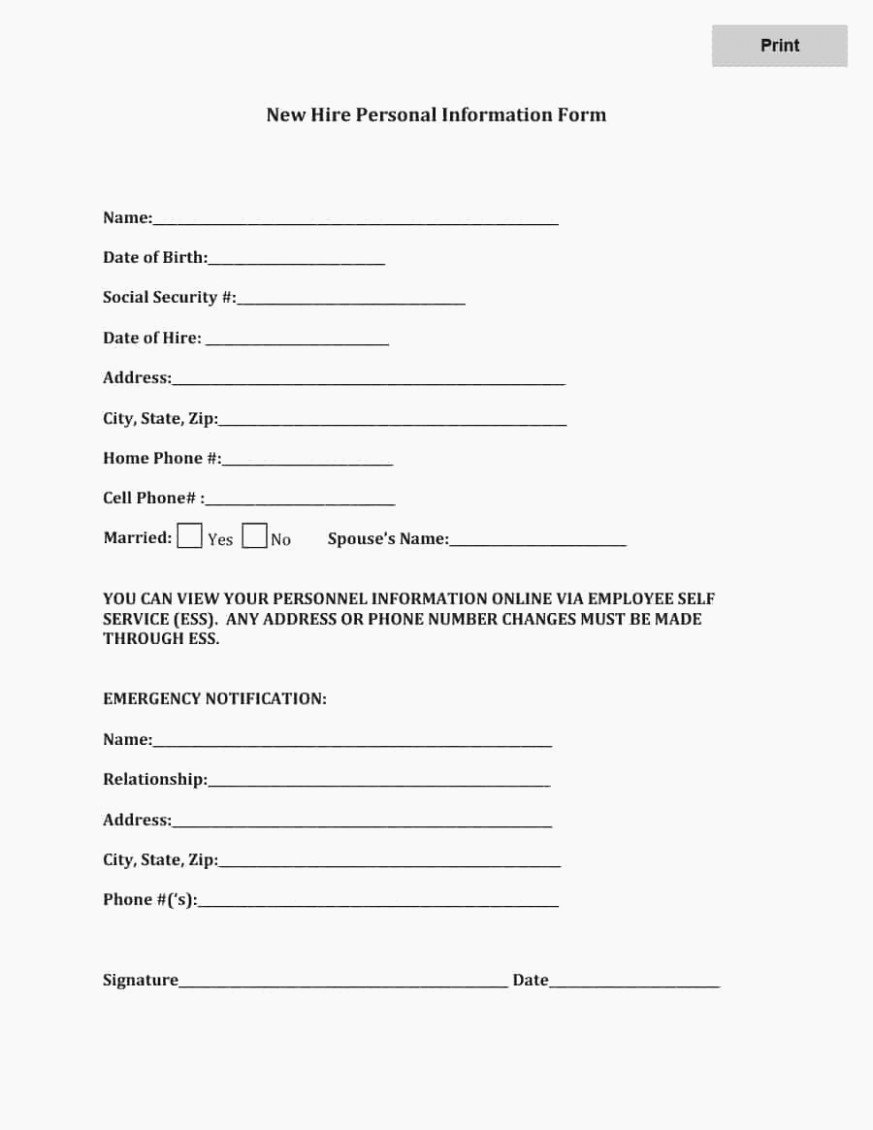 Employee Emergency Contact form Template Beautiful 12 Emergency Contact form for Employees