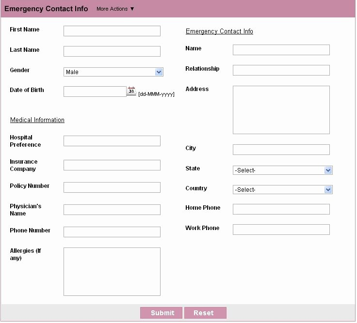 Employee Emergency Contact form Template Elegant 29 Of Emergency Contact List Template for Employees