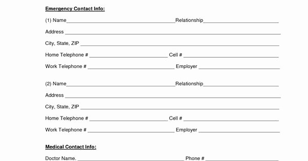 Employee Emergency Contact form Template Fresh Download A Free Emergency Contact form and Emergency Card