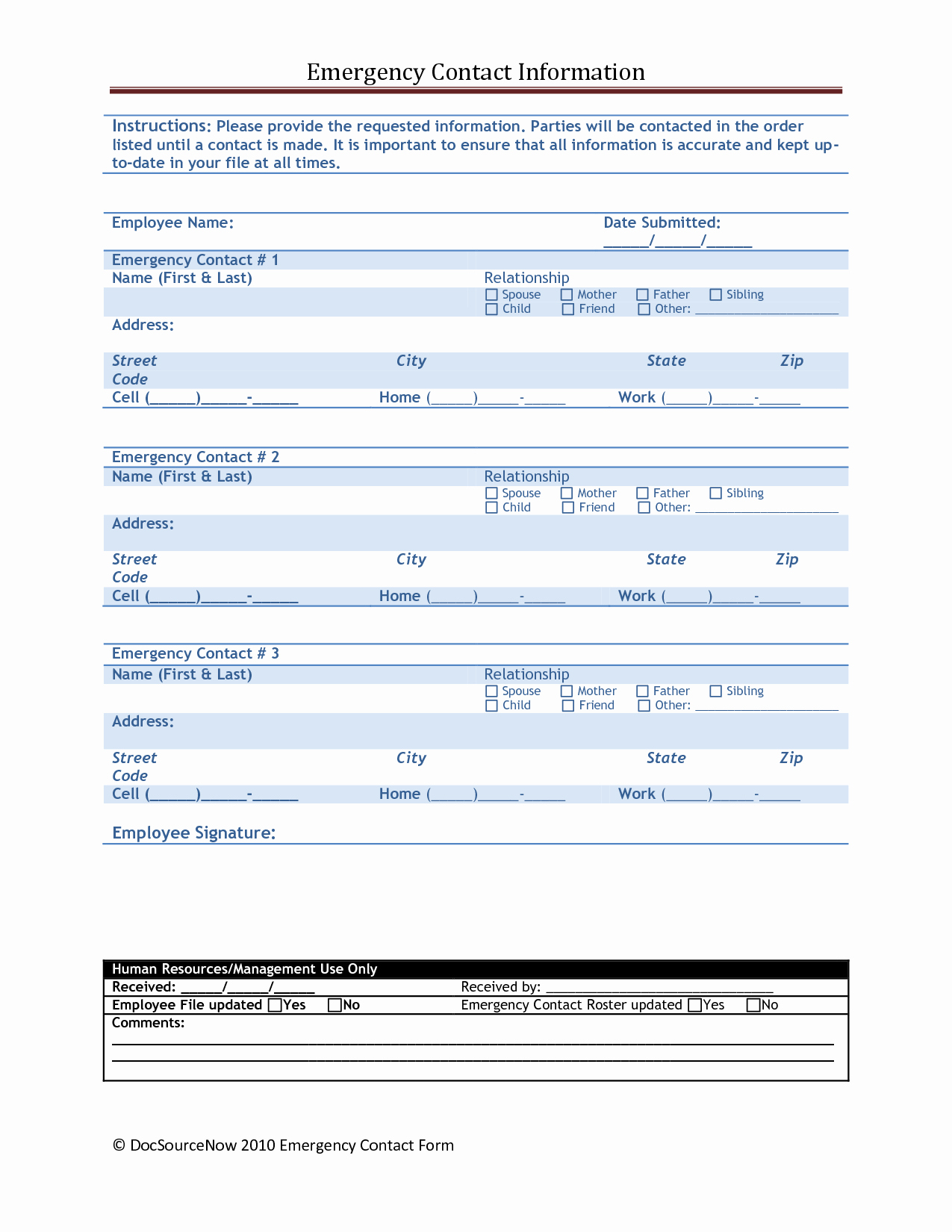 Employee Emergency Contact form Template Unique Employer Contact Information Cover Letter Samples