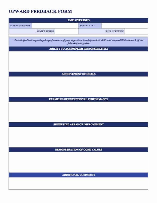 Employee Evaluation Template Word Fresh Free Employee Performance Review Templates Smartsheet