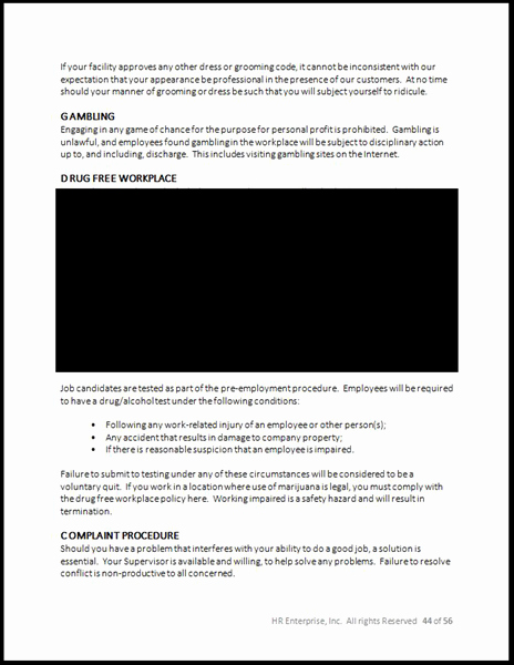 Employee Handbook Template Word Free Inspirational Employee Handbook Template 2017 – Hr Enterprise