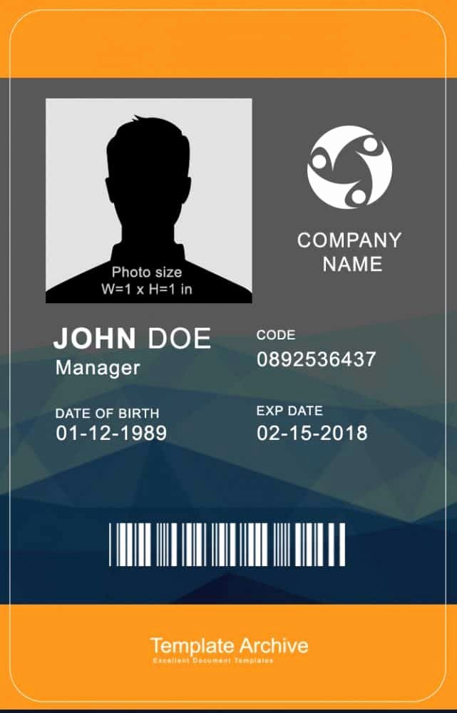 Employee Id Card Templates Awesome 16 Id Badge & Id Card Templates Free Template Archive