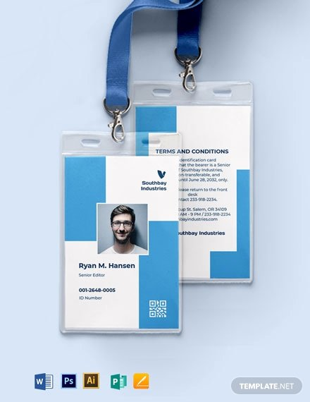 Employee Id Card Templates Awesome 387 Free Id Card Templates In Adobe Illustrator [ai