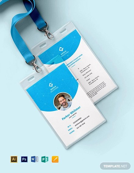 Employee Id Card Templates Beautiful 32 Id Card Templates Word Psd Ai Pages