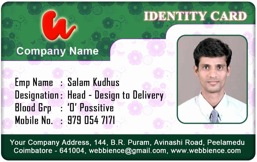 Employee Id Card Templates Beautiful Id Card Coimbatore Ph September 2012