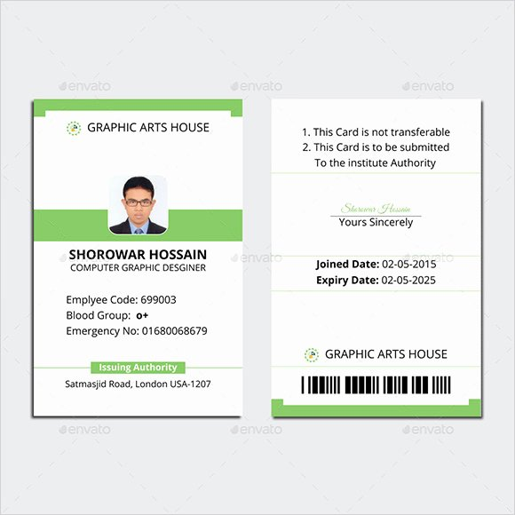 Employee Id Card Templates Best Of Free 35 Amazing Id Card Templates In Illustrator