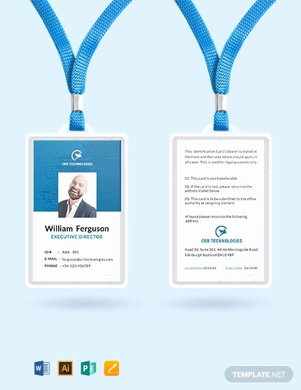 Employee Id Card Templates Best Of Free Employee Id Card Template Word Psd