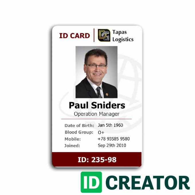 Employee Id Card Templates Elegant Employee Id Card 2 Card Templates