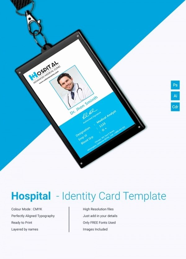 Employee Id Card Templates Fresh Employee Id Card Template Psd Free Download Icebergcoworking