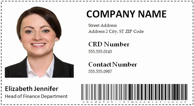 Employee Id Card Templates Inspirational Employee Id Card Templates Word format