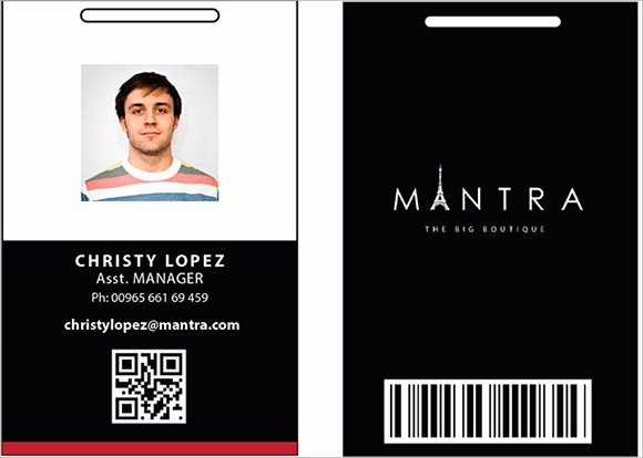 Employee Id Card Templates Lovely 36 Amazing Id Card Templates Ai Word Apple Pages