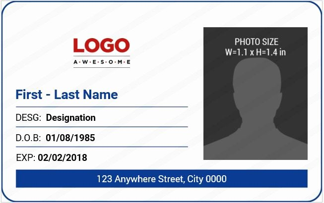 Employee Id Card Templates New 10 Best Ms Word Id Badge Templates for Fice