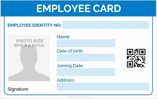 Employee Identification Card Template Awesome 5 Best Employee Id Card format In Word