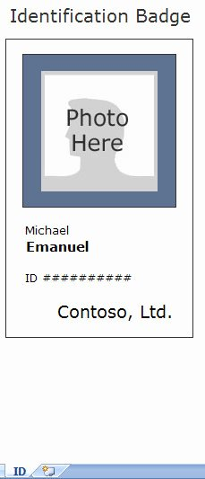 Employee Identification Card Template Beautiful Employee Identification Card Template