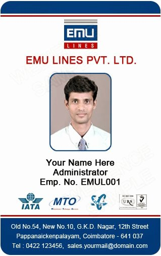 Employee Identification Card Template Beautiful Template Galleries Employee Id Card Templates