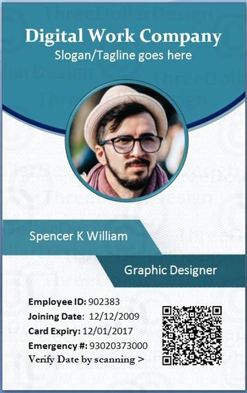 Employee Identification Card Template Elegant Employee Card format In Word