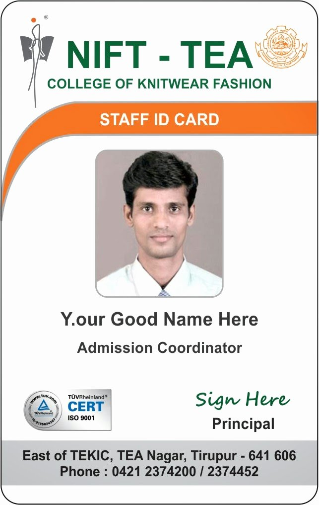 Employee Identification Card Template Elegant Id Card Coimbatore Ph College Student