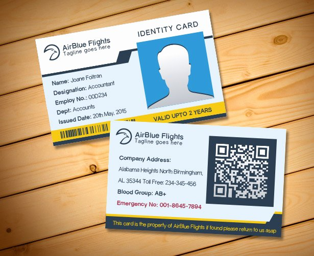 Employee Identification Card Template Fresh 2 Free Pany Employee Identity Card Design Templates