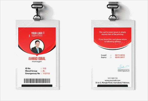 Employee Identification Card Template Inspirational Id Card Template 19 Download In Psd Pdf Word